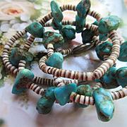Vintage Native American Turquoise and Shell Necklace