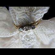 Antique 10K Gold Diamond Ring Size 7.5