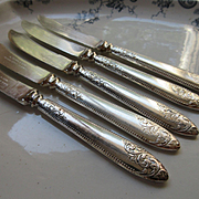 Vintage A. Dunn and Son Flatware Knives Five Piece