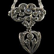 Vintage Deco Sterling Paste Necklace Circa 1920