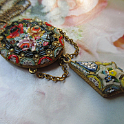 Older Vintage 1920s Mosaic Necklace