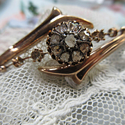 Antique Victorian 10K Rose Cut Diamond Bracelet