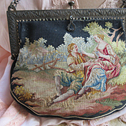 Victorian Micro Petit Point Bag Love Scene