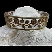 Vintage Open Work Floral Bangle Bracelet