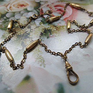 Antique Victorian Locket Chain in Gold Fill