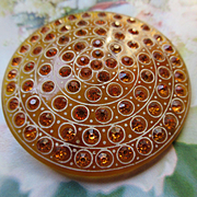 Vintage Early Plastic Paste Brooch