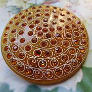 Vintage Early Plastic Paste Brooch