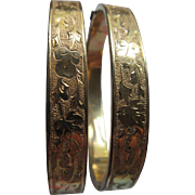 Victorian antique Pair of Wedding Bracelets Gold Fill