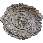 Older Vintage Repousse Card Tray