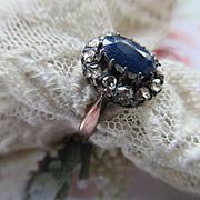 Older Vintage Rose Cut Diamond Sapphire Ring