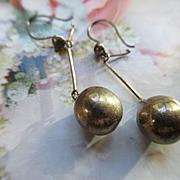 Vintage Sterling Dangle Drop Pierced Earrings