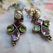 Vintage Sterling Fresh Water Pearl Pierced Earrings