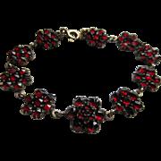 Older Vintage circa 1930 Bohemian Garnet Bracelet