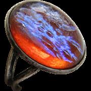Vintage Sterling Dragon's Breath Ring