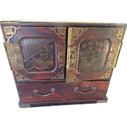 Older Vintage Asian Inspired Chest Jewelry Box