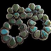 Vintage Oscar Betz Patasi Turquoise Sterling Long Drop Earrings