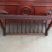 Antique Oak Arts and Crafts Clock Shelf