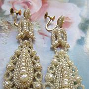 Victorian 10K Seed Pearl Wedding Set