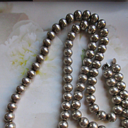 Vintage 30'' Tiffany & Co Sterling Beaded Necklace