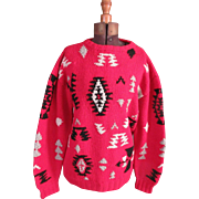 Vintage Ralph Lauren Polo Native American Sweater : Vintage Ralph Lauren : Lauren Clothing : Red Sweater : Winter Sweater : Over sized Sweater