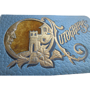 Victorian Embossed Autograph Book Christmas 1891