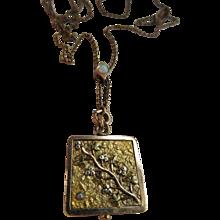 Antique Victorian Lorgnette Watch Slide Chain with Unusual Antique Locket