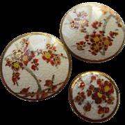 19th Century Satsuma Buttons Set of 3