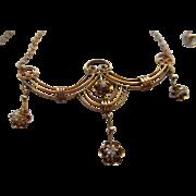 Antique Circa 1910 Diamond Lavaliere Necklace