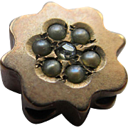 Victorian 10K Diamond and Seed Pearl Slide
