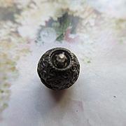 Victorian 10K Rose Cut Diamond Etruscan Slide