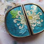 Vintage Enameled Floral Buckle