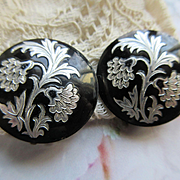 Vintage French Celluloid Clip On Earrings