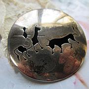 Vintage Sterling Mexican Matador Pin Pendant