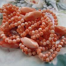 Vintage 28'' Coral Necklace
