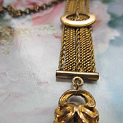 Antique Victorian Watch Chain Wax Seal Fob