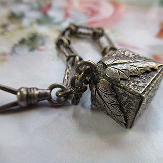 Antique Victorian Watch Chain with Unique Watch Fob