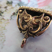 Antique Victorian Blood Stone Fob in Gold Fill
