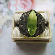 Vintage Arts and Crafts Silver Ring