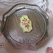 Art Deco Enameled Compact - Red Tag Sale Item