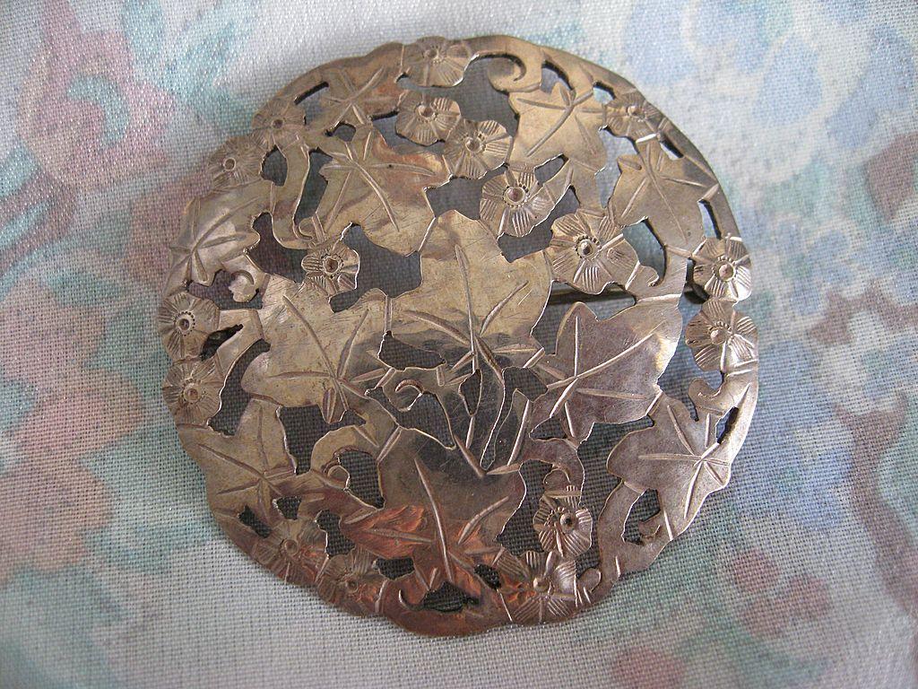 Fabulous Stavre & Gladys Panis Sterling Pin