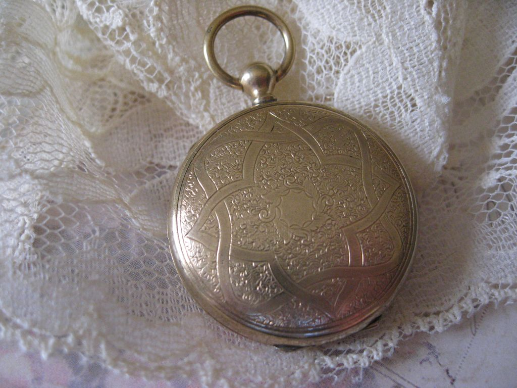 Victorian Locket with Blond Hair