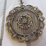 Lovely Art Deco Sterling Paste Necklace