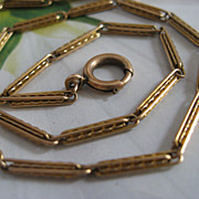 Lovely Turn Of The Century Watch Chain 1/4 Gold Fill