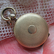 Antique Pocket Watch Style Locket