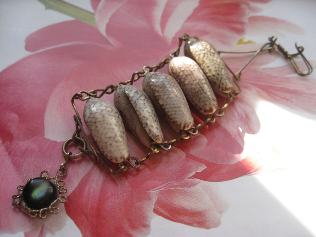 Victorian Sea Shell Watch Chain