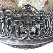 Vintage Footed Silver Plate Basket Original Liner - Red Tag Sale Item