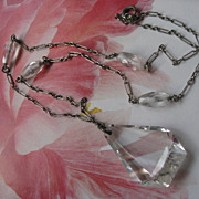 Circa 1940 Cut Crystal Necklace