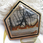 Picasso Marble Pin  Artist Signed AB
