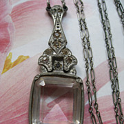 Art Deco Pot Metal & Paste Necklace
