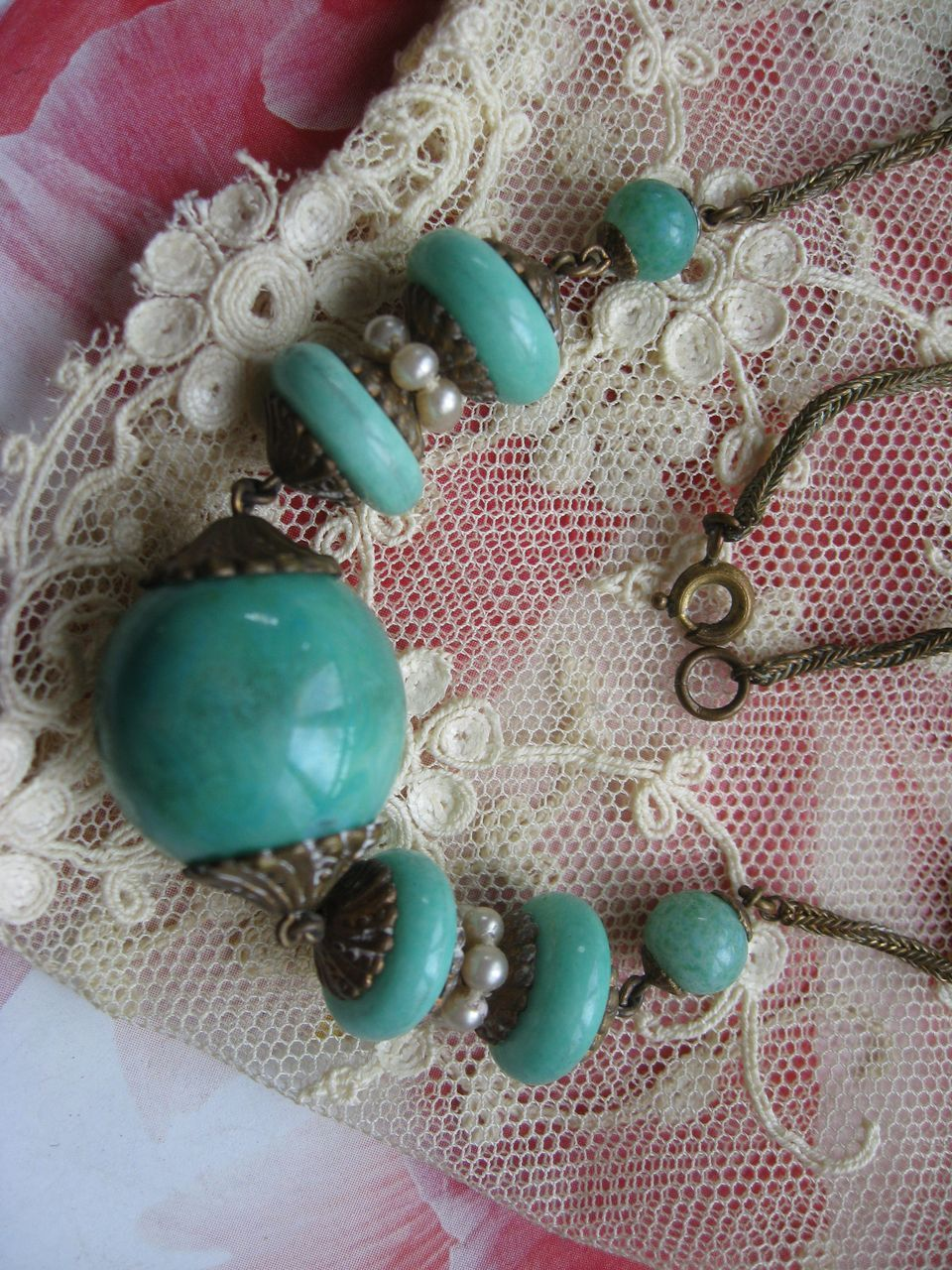 Peking Glass Necklace   circa 1930